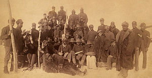 Buffalo Soldiers at Wounded Knee 1890 - helping their 'masters'.