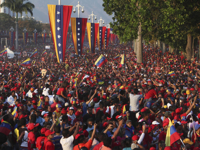 Outpouring of love, tears for Hugo Chavez.
