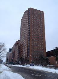 """14th floor backed out windows is the """"war room""""."""