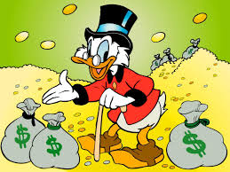 """Scrooge: """"Hey, Indians! You ain't never gettin' it back!"""
