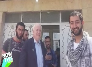 """Sen. McCain to Al Qaeda: """"Give me your post office box in Yemen for your Social Security pensions""""."""