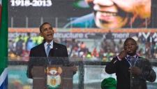 "Interpreter: ""Obama just said that depopulation starts here!!! [Like hell!]"""