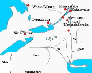 Some of our Mohawk communities of vast Rotino'shonni:onwe Territory.