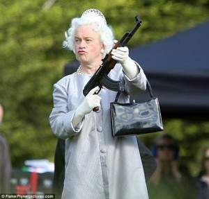 """Queenie to her Privy: """"Get my money or i""""ll """"mow you down!"""
