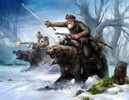 Russian bear meets Mohawk Bear clan.