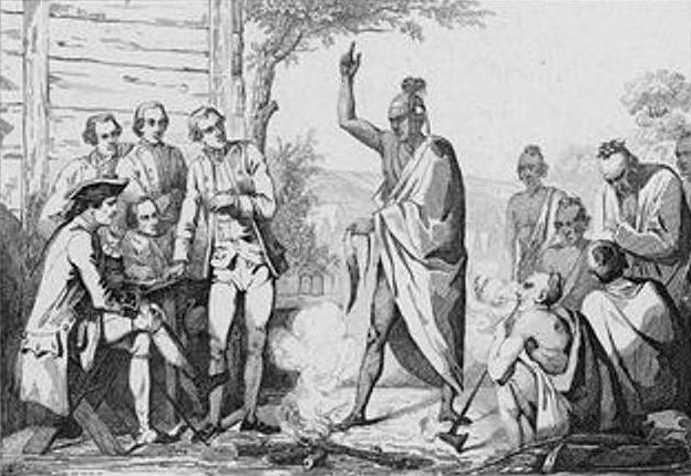 """""""Champlain & your buds. Get out of here before I drop the black wampum!"""""""