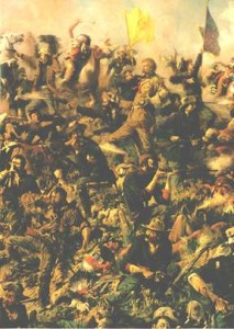Custer's last stand, 1876.