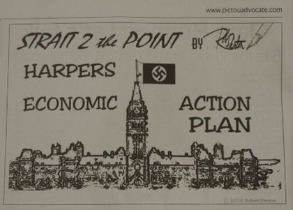 Harper's false flag was all about?