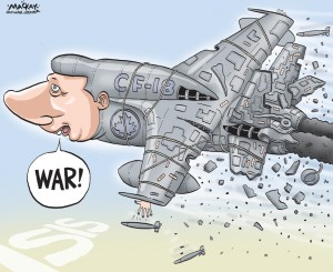 """Warmonger Stephen Harper: """"Weeee! We just wiped out some Iraqi villages!"""""""