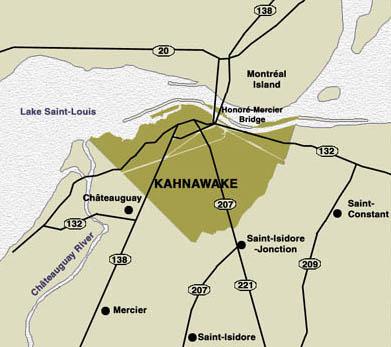 Kahnawake map