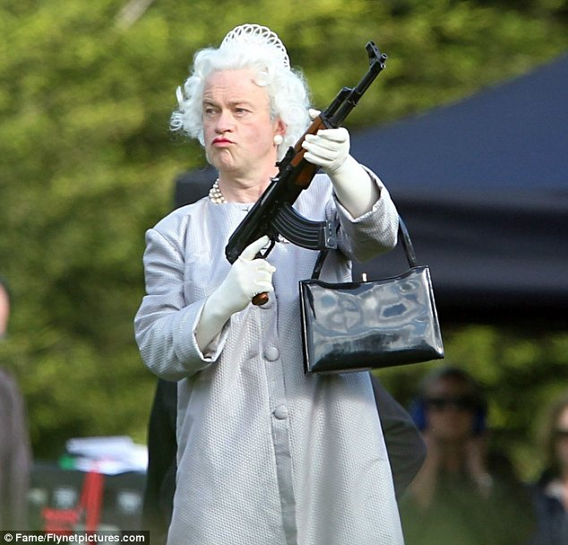 "Queenie: ""On your knees, slave!"""