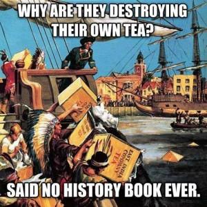 1773 Settlers dress as Mohawks to start American Revolution.