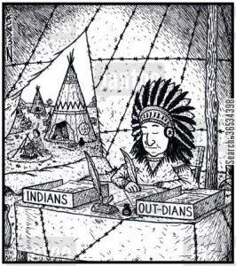 The North American Indian version of In & Out trays