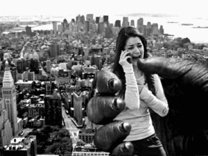 Yeah! False Flag Girl was in New York City & got captured by King Kong!