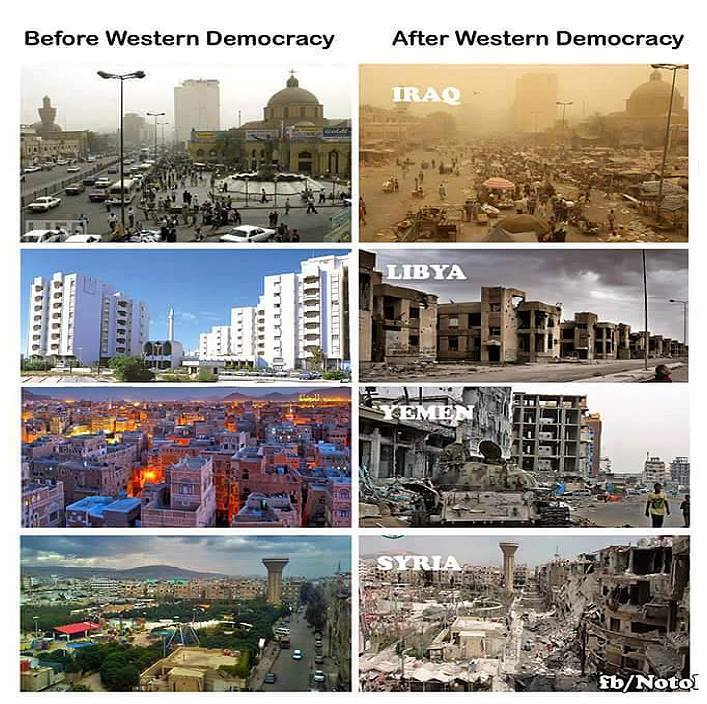 Banksters spreading western democracy worldwide.
