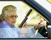 "Queenie sings: ""Diamonds are a girl's best friend!""."
