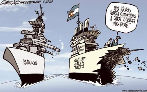 Quebec sales tax collectors: Quebec tax collectors: Wow! Their war canoe got us!