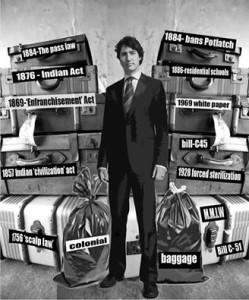 Trudeau has no colonial baggage?