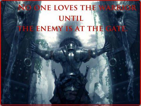 warrior at gate