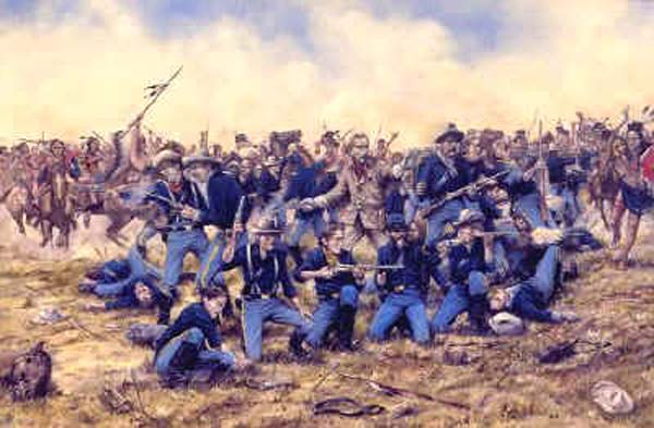 "Custer: ""Hey, where are all those starving, unarmed men, women and children?"""