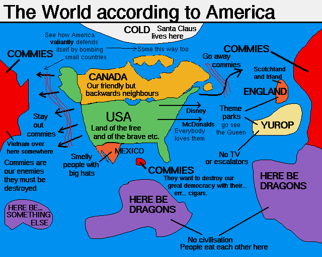 Bankers' world map.