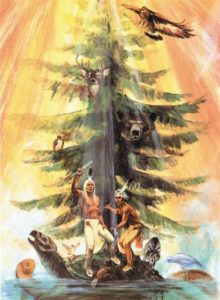 Tree of peace and kaia'nere:kowa stand strong.