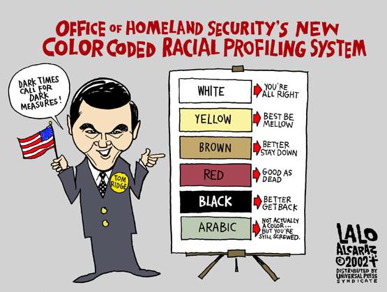 homeland sec racial system