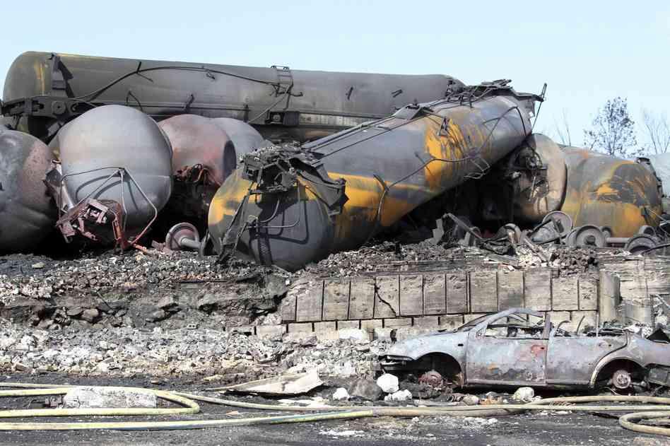 Bomb trains carry Bakken crude from North Dakota through our settlements.